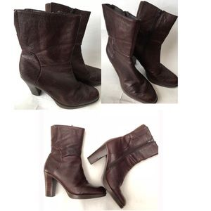 VINTAGE BROWN NINE WEST CAMPIO LEATHER BOOT SZ 8.5